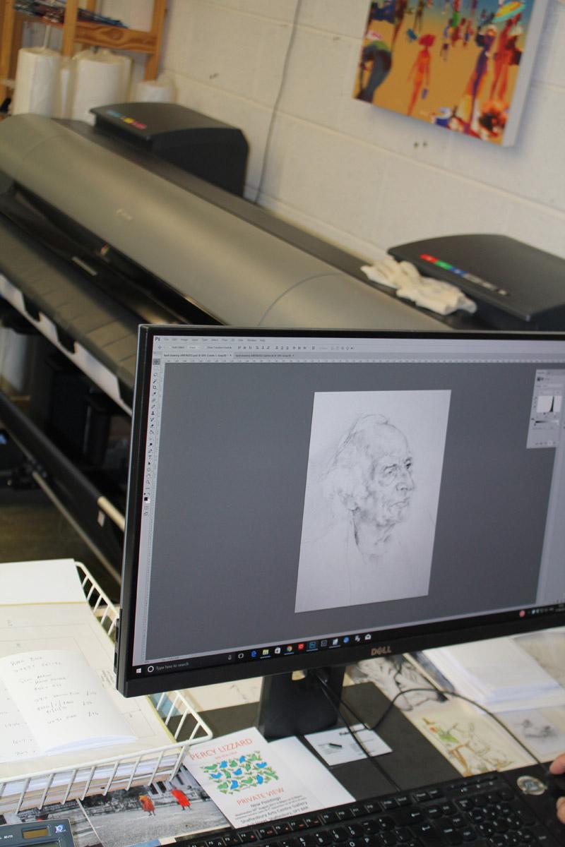 Pictureframes of shaftesbury - Image scanning