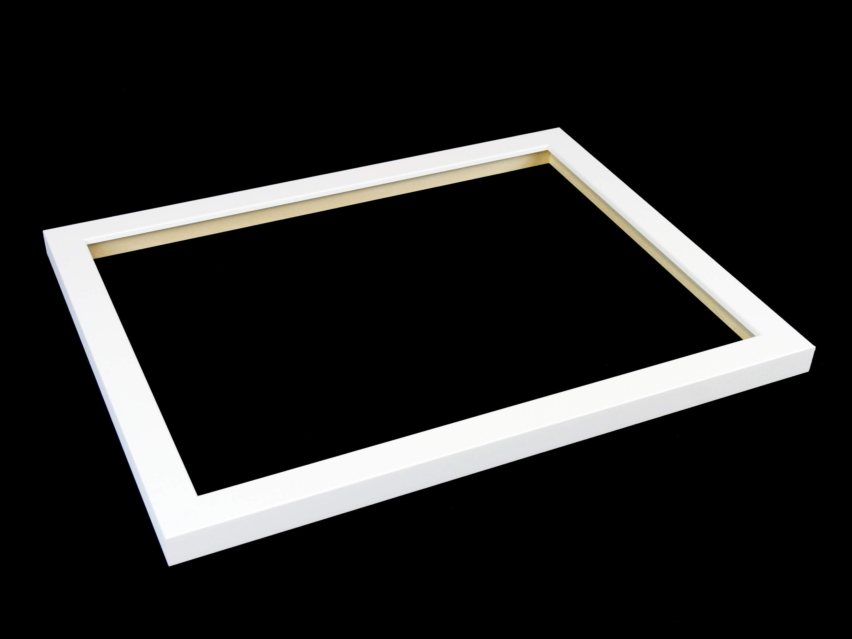 a primed and twice-sprayed white frame
