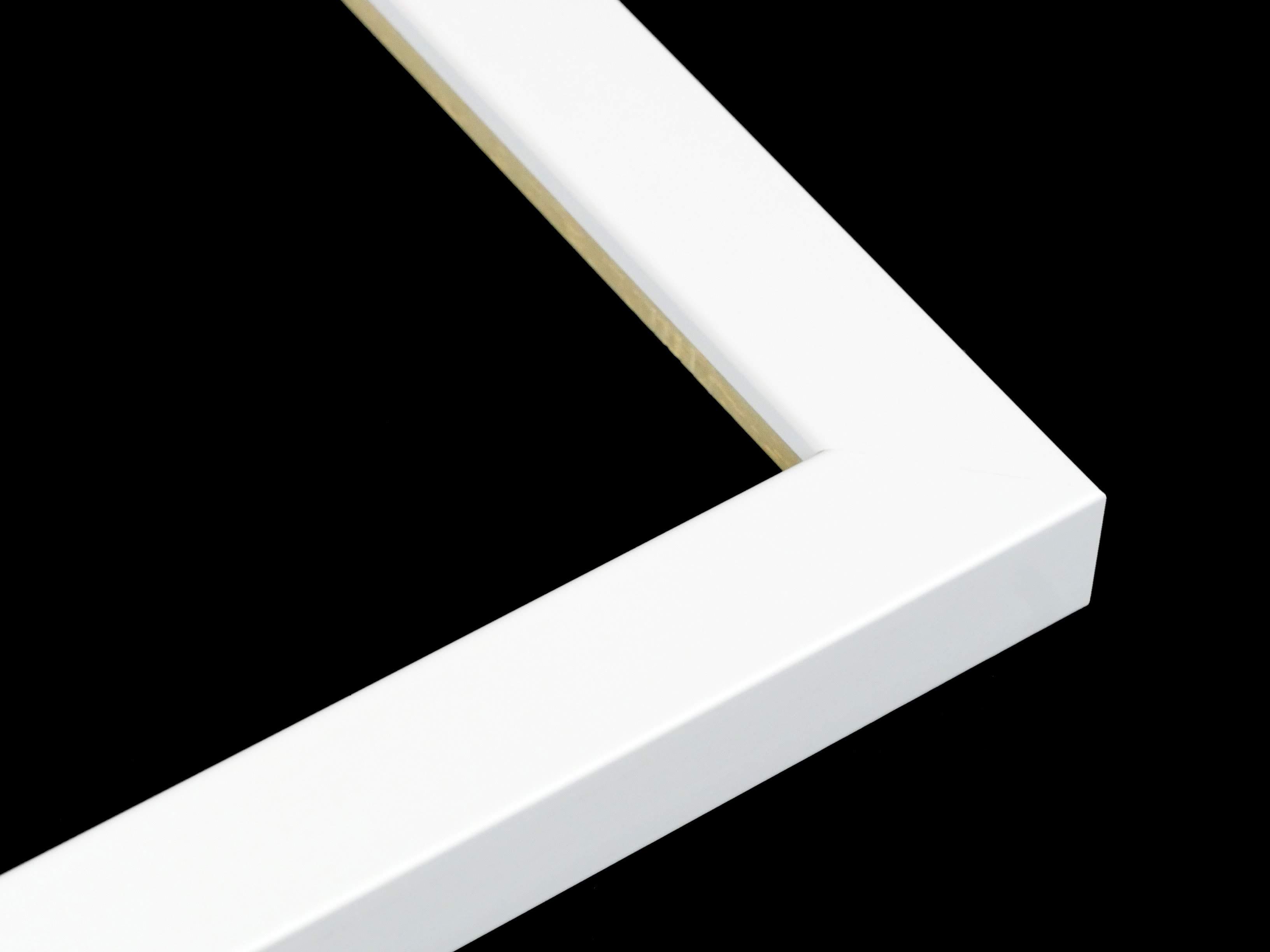 a sprayed white frame with no split or crack
